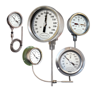 picture of industrial thermometers